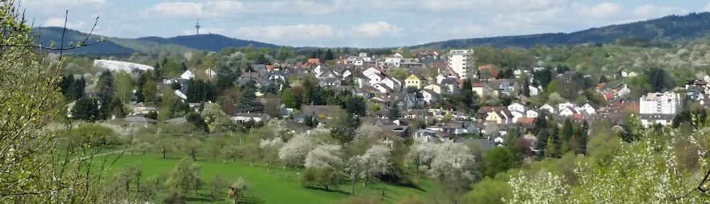 Blick auf Bad Soden Altenhain und Taunus