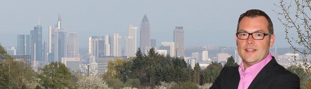 Blick von Bad Soden nach Frankfurt